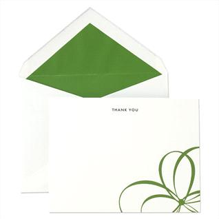 Kate Spade uses a fun and bright color in this stationery at Crane & Co.