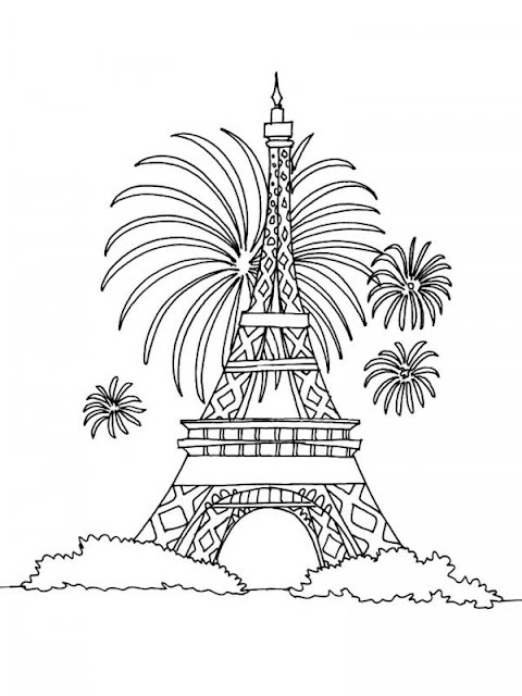 from coloring pages post the eiffel tower coloring page