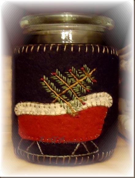 Sleigh Candle Hugger 2