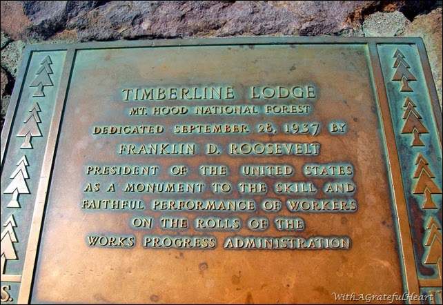 Timberline Dedication Plaque