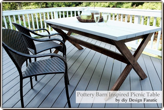 Pottery Barn DIY picnic table