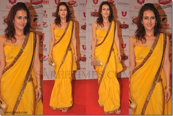 Tulip_Joshi_Yellow_Saree