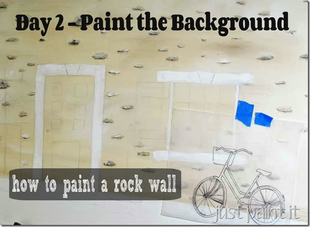 how to paint rock wall