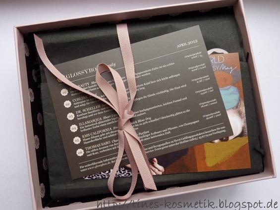 Glossybox April 2012a