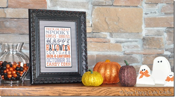 Glitter-Pumpkins-on-mantle