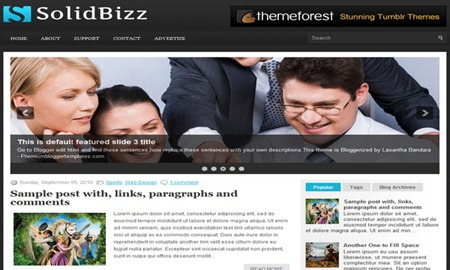 SolidBizz-Blogger-Template