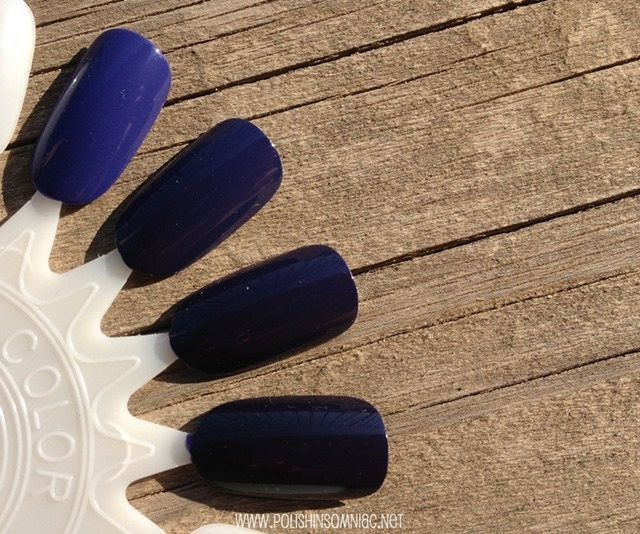 Face Stockholm Cream Crocus, China Glaze Queen B, Essie No More Film, OPI Road House Blues