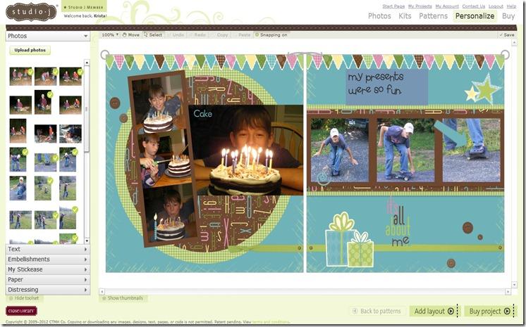2012-1 Aaron's Studio J bday page he created