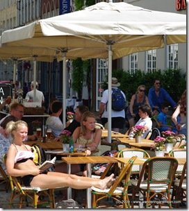 An emergency tanning session in Copenhagen