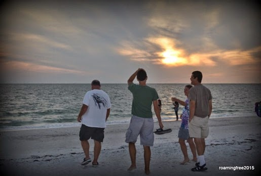 Enjoying sunset at the beach
