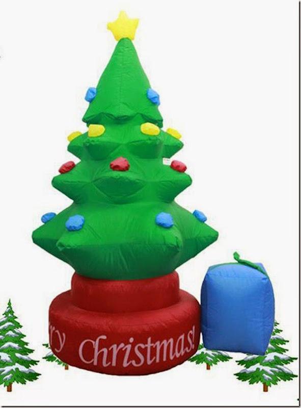 創意自轉充氣聖誕樹
