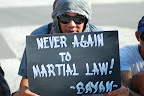 One of the protesters who joined the rally in Bacolod City. (Photo by Owen S. Bayog/Bulatlat.com)