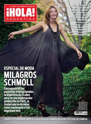 Milagros schmoll y mariano martinez en revista hola for Revistas del espectaculo