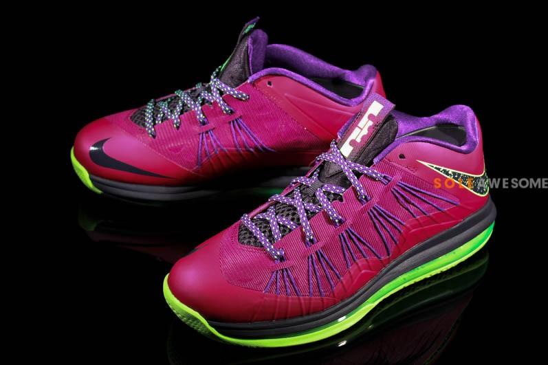Nike LeBron 10 X Black Purple Blue