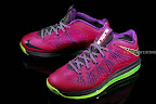 nike lebron 10 low gr purple neon green 1 01 Release Reminder: NIKE LEBRON X LOW Raspberry (579765 601)