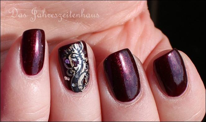 Dreifach Stamping schwarz silber gold 4
