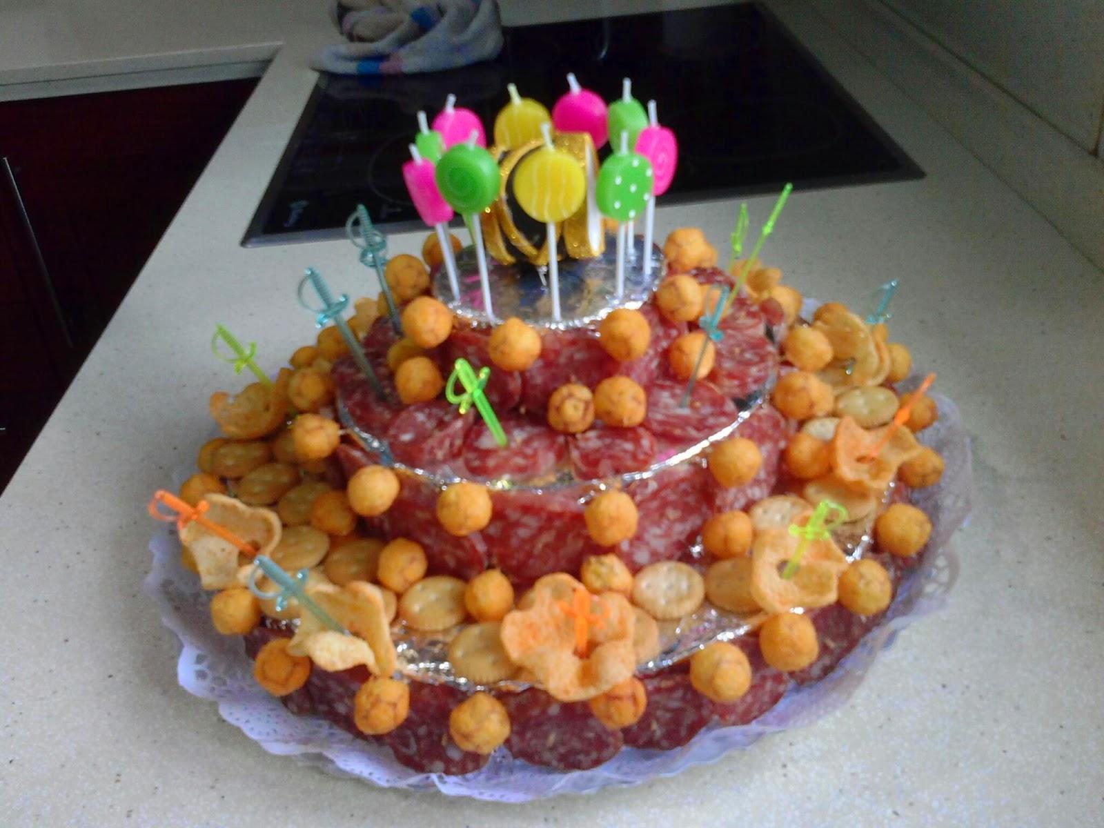 Cosecha del 69 tarta salada de cumplea os for Mesa salada para cumple