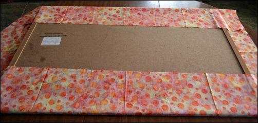 first fabric fold