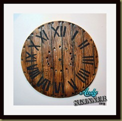 faux wood clocks