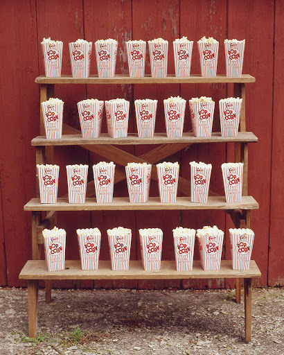 A fun way to distribute popcorn. (Martha Stewart Living, July 2005)