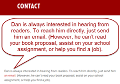 how to contact Dan Pink