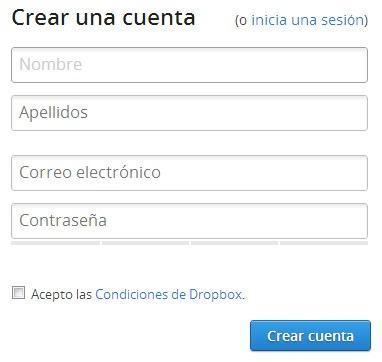 Registrarse-en-Dropbox