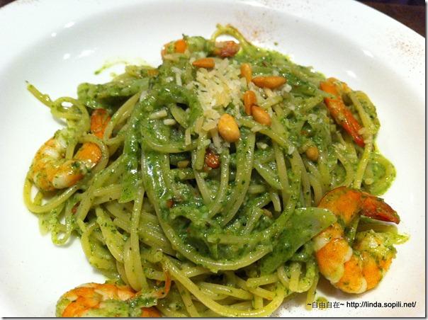 明曜店-義磚義瓦-羅勒松子鮮蝦義大利麵
