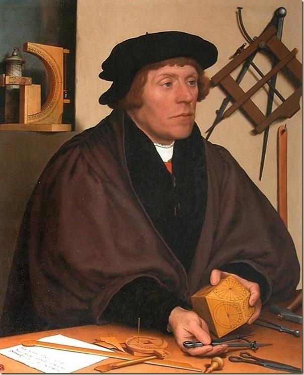 Holbein, Portrait du mathématicien Kratzer