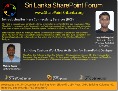 09 - SriLankaSharePointForum - 14th December 2011