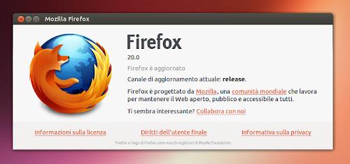 Firefox 20 su Ubuntu