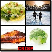 CRISP- 4 Pics 1 Word Answers 3 Letters