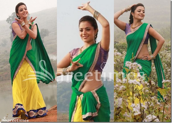 Nisha_Agarwal_Green_Yellow_Half_Saree
