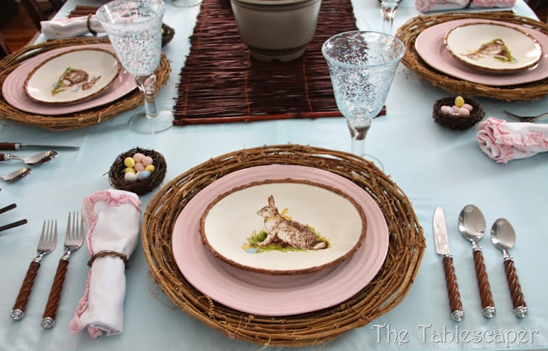 Rustic Rabbits Easter Tablescape - The Tablescaper04