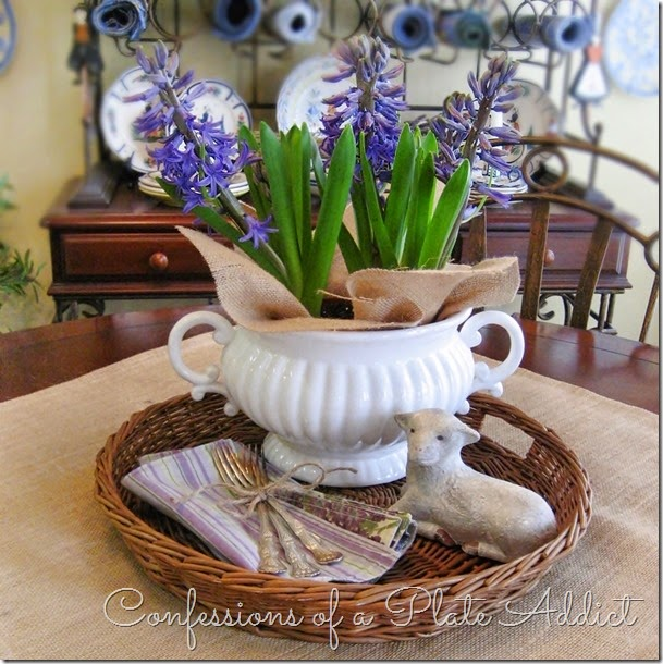 CONFESSIONS OF A PLATE ADDICT A Simple Spring Centerpiece
