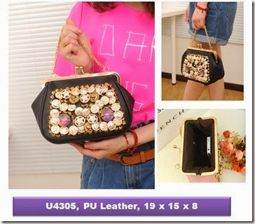 U4305 (210.000) - PU Leather, 19 x 15 x 8
