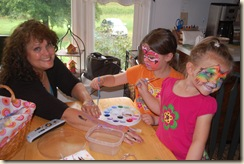 face painting with Gram