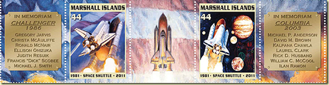 the first space shuttle on moon stamp - photo #24