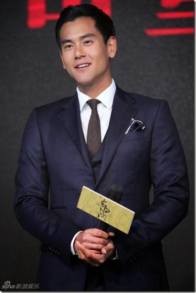 """2014.08.10 Eddie Peng during Rise of the Legend - 彭于晏 黃飛鴻之英雄有夢 烏鎮 - """"傳奇重生""""發佈會 001"""