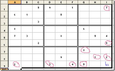 Solve Sudoku with Excel5