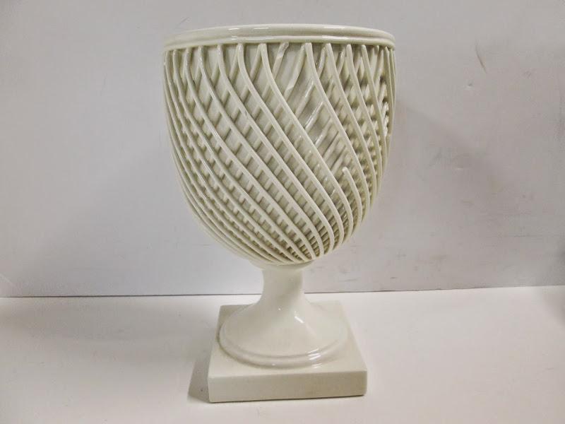 Vellum Porcelain Lattice Planter