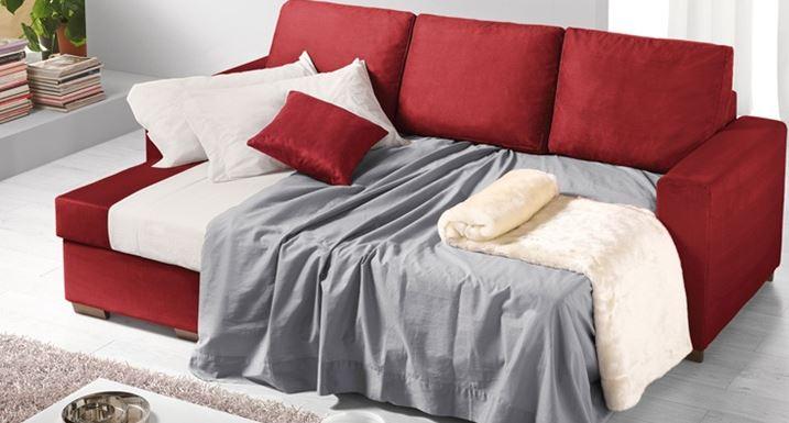 Divano letto rosso - Divano letto a l ...