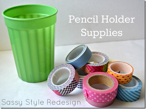 DIY locker accessories pencil holder supplies
