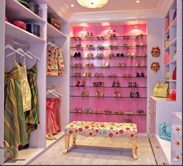 dressing closet pink chic and deco