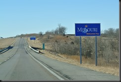 The Welcome sign....about a mile inside the state