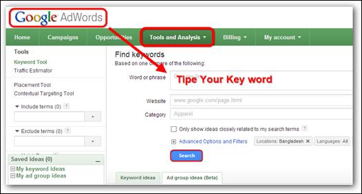 Google-Keywords-Tool