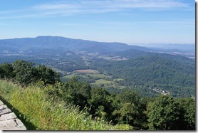 View of the Shenandoah Valley from Skyline Drive overlook