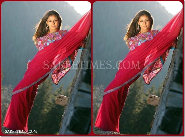Nayanathara_Purple_Saree