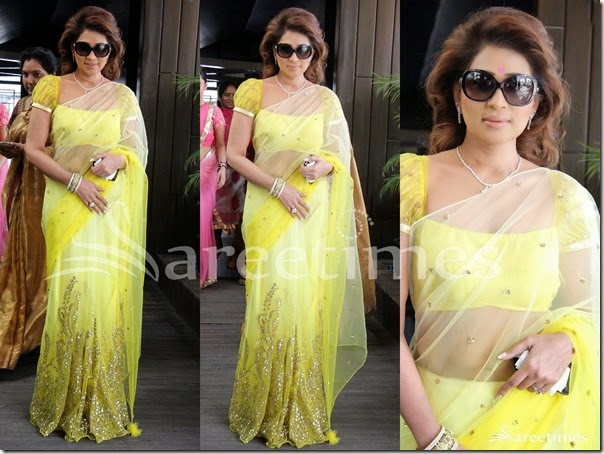 Shreedevi_Lemon_Yellow_Saree
