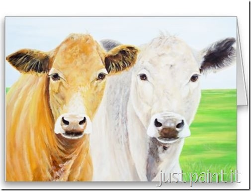 Two Cows notecard