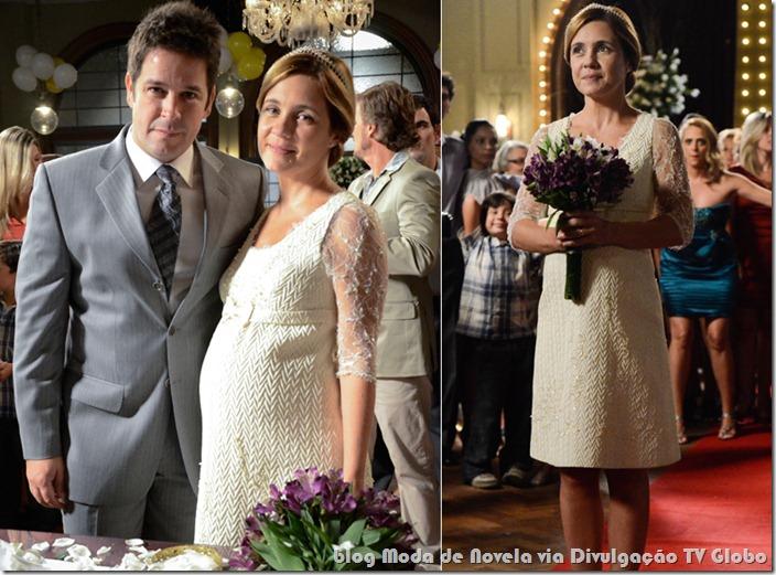 moda da novela avenida brasil - vestido de noiva da carminha